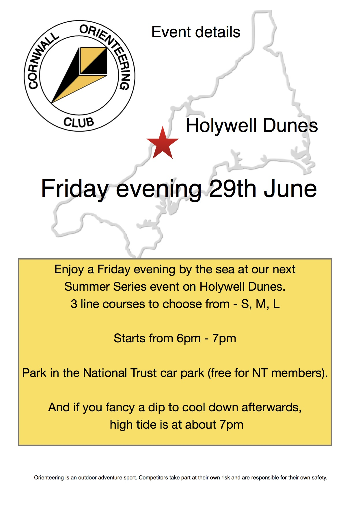 Flyer for Holywell summer event 2108