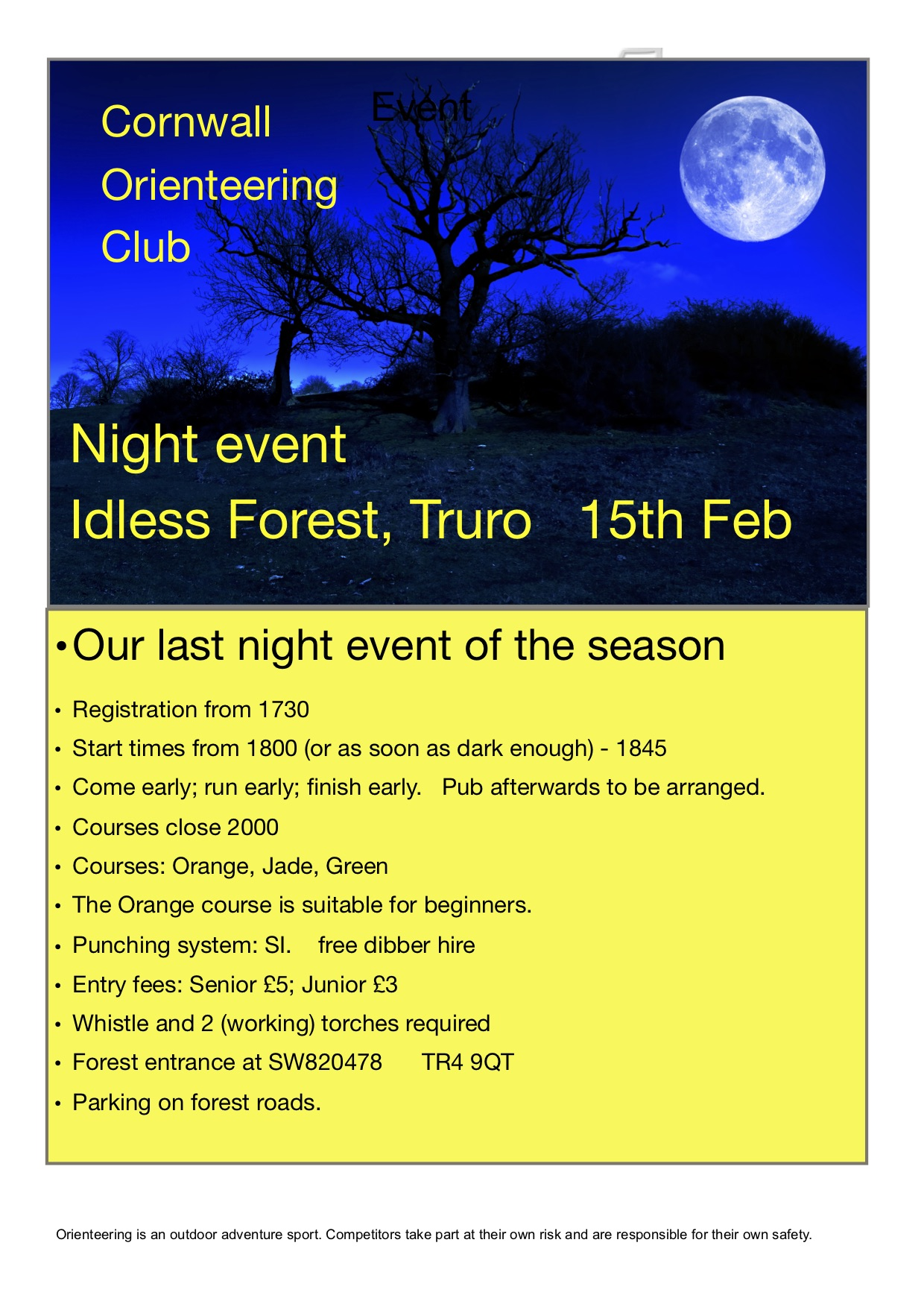 Idless night event flyer